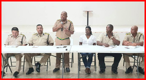 Commissioner of Police meet with residents of Belmopan