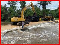 Heavy rains causing flooding