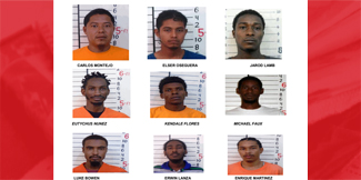 Nine prisoners remain on the lam