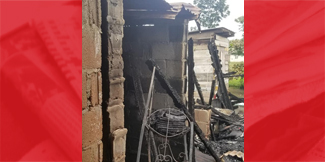 Christmas tree burns down house