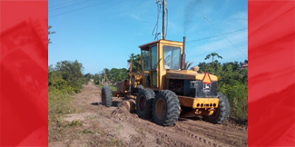 Police facilitate theft of Grader