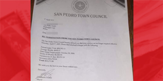 Clean Sweep of Employees at San Pedro Town Council